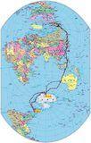 创新世界地图:南半球版