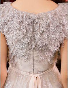 Sheath/Column Jewel Knee-length Lace Cocktail Dress (1241477) – AUD $ 114.39