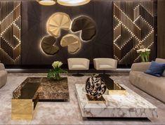 Front Wall Design, Wall Panel Design, Modern Bedroom Design, Modern Interior Design, Modern Luxury Bedroom, Hall Wall Decor, Living Room Designs, Living Room Decor, Cladding Design