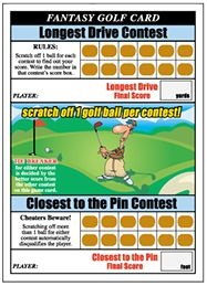 Raise More Money At Your Next Golf Tournament With Fantasy Golf Scratch Off Cards The Golf Fundraiser