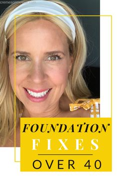 Makeup Tips Over Foundation Fixes - Mature skin experiences so many changes. Foundation doesn't seem to apply the same way every day! Sometimes dry, sometimes oily - here are fantastic makeup tips for women over 40 to help your foundation look flawless. Beste Foundation, Foundation For Mature Skin, Makeup Tips Foundation, How To Apply Foundation, Foundation Application, Makeup Tips Over 40, Makeup Tips To Look Younger, Natural Makeup Tips, Organic Makeup