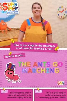 Caitie demonstrates the gestures and shares some activity ideas for our version of this popular kids song. Preschool Songs, Toddler Preschool, Popular Kids Songs, Counting Songs, English Love, How To Teach Kids, Rhyming Words, Simple Math, English Language Learners