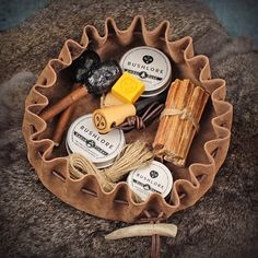 Leather Tinder Pouch Large Fire Starting Bushcraft Gift Set