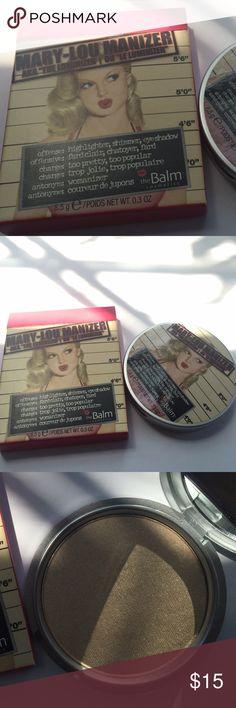 Mary-Lou Manizer THEBALM 100% authentic. Never used. Thebalm Makeup Luminizer
