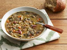 Black-Eyed Pea Soup recipe from Food Network Kitchen via Food Network