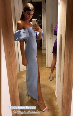 Prom Dresses Blue, Event Dresses, Formal Dresses, Party Dress Outfits, Fiesta Outfit, Mode Ootd, Look Fashion, Dress To Impress, Evening Gowns