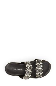 KG Kurt Geiger 'Monarch' Embellished Calf Hair Slide Sandal (Women)