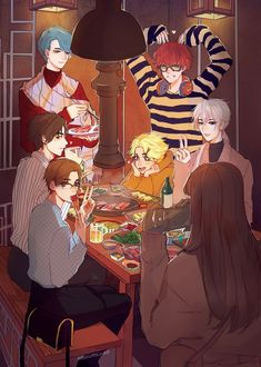 Mystic Messenger Memes Discover lets eat! an art print by vacuum Um can Zen do my makeup? I dont even like makeup but that boys skills are fly as fuck Diabolik Lovers, Anime Manga, Anime Art, Mystic Messenger Jumin, Kik Messenger, Luciel Choi, Zen, Mystic Messenger Characters, Manhwa