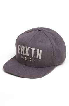 Brixton 'Arden II' Snapback Baseball Cap on Wantering | Gifts for Him | mens baseball cap | mens hat | menswear | mens accessories | grey | mens style | mens fashion | wantering http://www.wantering.com/mens-clothing-item/brixton-arden-ii-snapback-baseball-cap/afHNY/