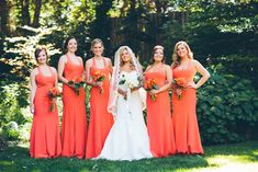 Our super fab Grey Collective member, Geoff Johnson, sent us this perfectly orange wedding that has us longing for the summer. We know how much you appreci Wedding Blog, Wedding Styles, Orange Bridesmaid Dresses, Bridesmaids, Wedding Inspiration, Style Inspiration, Orange Wedding, Orange Fashion, Fall Wedding Dresses