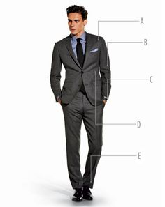 Two piece overall. Note - 1. Thinner lapel. 2. Flap pockets. 3. Ticket Pocket 4. Shorter suit