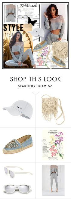 """""""Ricki Brazil"""" by lip-balm ❤ liked on Polyvore featuring NIKE, H&M, René Caovilla, Yves Saint Laurent and rickibrazil"""