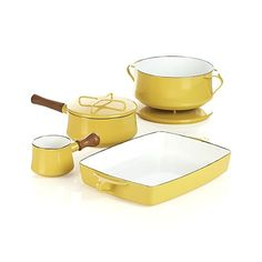 Dansk® Kobenstyle Yellow 2-Quart Sauce Pan in New Kitchen & Food | Crate and Barrel