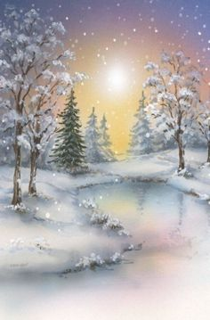Global Christmas Anytime Party (Official Group) has members. Welcome to share Christmas: designs, crafts, recipes or winter pictures. Christmas Scenes, Christmas Pictures, Christmas Art, Winter Christmas, Christmas Ideas, Winter Painting, Winter Art, Winter Snow, Winter Scene Paintings