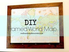 DIY Custom Framed World Map