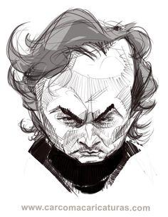 #Caricatura de #Mourinho, entrenador del #Real_Madrid.  #Mourinho #caricature, #Real_Madrid coach