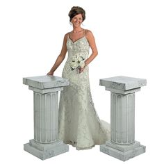 Marble-Look Fluted Columns - 3 ft. - OrientalTrading.com