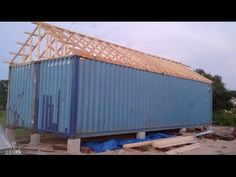 Container Home Build in pictures Part 1 - YouTube