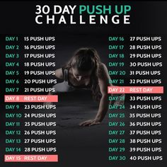 30 Day Push Up Challenge - Fitness Training Chest Arms Workout
