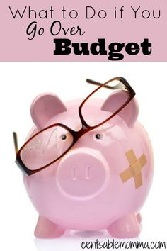 Have you ever gone over budget? Most likely you have at some point! Check out these tips on what to do if you go over budget (so you don't go into debt).