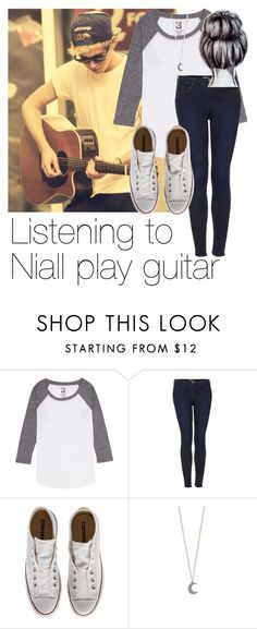"""Listening to Niall play guitar"" by style-with-one-direction ❤ liked on Polyvore featuring Billabong, Topshop, Converse, OneDirection, 1d, NiallHoran and niall horan one direction 1d"
