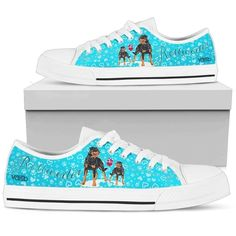 Rottweiler - Women's Low Top Canvas Sneakers (White)
