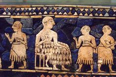 Detail from the Standard of Ur. From Ur, southern Iraq, about 2600-2400 BC