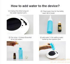 Negative Ionic aroma mini solar car air purifier humidifier gift