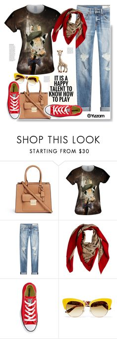 """Yizzam.com: It´s a happy talent to know how to play."" by hamaly ❤ liked on Polyvore featuring Michael Kors, rag & bone, Hermès, Bebe, Converse, Dolce&Gabbana, Anja, vintage, outfit and ootd"