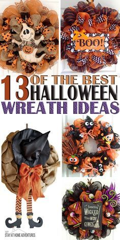 I'll be honest and say I that I love Halloween so much is one of my favorites, but when it comes to decorating I am terrible. To get inspired here are some of the best Halloween Wreath ideas to help you get inspired.
