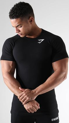 A fitness essential t-shirt that combines a versatile fit with a durable material blend.