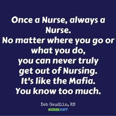 TODAY'S QUOTE: #ForeverNurse  #nursebuff #nursingquote #nursequote