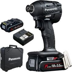 *CLICK TO ENLARGE* Panasonic EY75A7 18V brushless impact driver with 2x 3Ah batteries