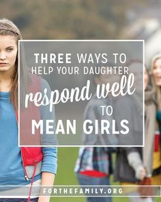 "Good read- Our daughters will likely face ""mean girls"" throughout their teen years. Are they ready? As parents, we need to understand what ""mean girl"" actually means and equip our own daughters to respond with integrity, in the grace and love Of Christ. Parenting Teens, Parenting Humor, Kids And Parenting, Parenting Hacks, Parenting Classes, Parenting Styles, Parenting Issues, Parenting Plan, Foster Parenting"