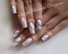 nail art de noiva ou madrinha