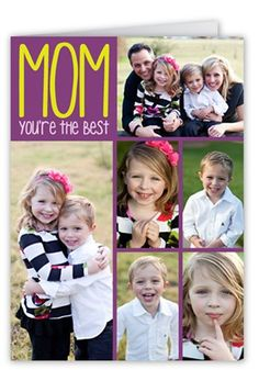 Best Memories Mother's Day Card, Square Corners, Purple