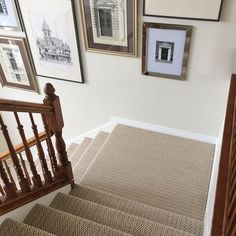 So pleased with how the patterned carpet on my stairs turned out.  Love me some herringbone! #tuftexcarpets #apexcarpets #patternedcarpet #stairrunner