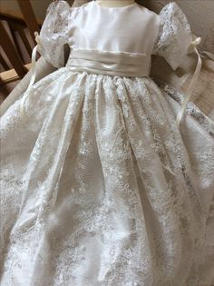 The Balmoral corded lace heirloom Christening gown ed43f60a109c