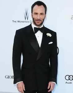Generally, a narrow lapel looks better (and more modern) but gosh Tom Ford looks handsome here in a slightly wider lapel tuxedo.