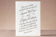 Just My Type Letterpress Wedding Invitations by An...   Minted - Subtotal for 70 Letterpress Wedding Invitations $390.00