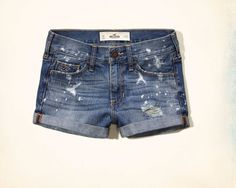 Hollister by Abercrombie  Destroyed SEXY DENIM Short Shorts!  NWT Size 1 Unique! #Hollister #Denim
