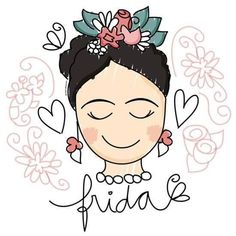 could make a fun mural Frida And Diego, Frida Art, Doodles, Posca, Art Plastique, Easy Drawings, Painting Inspiration, Embroidery Patterns, Pop Art