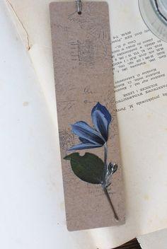 bookmark dried flowers dried plants pressed flower by mamwene
