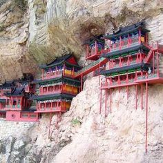 Hanging Monastery - China | Incredible Pictures 얘네는 왜 이런데다가 이러는걸까...