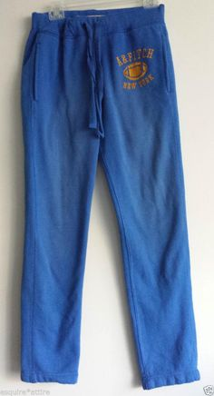 Abercrombie & Fitch men sweatpants men size SX (w30 L32) cotton blend blue #AbercrombieFitch #Pants