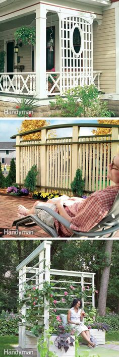 Garden Structures: Learn how to build and maintain outdoor structures with these projects, tips and ideas for sheds, fences, pergolas, arbors, storm shelters and tree houses. http://www.familyhandyman.com/garden-structures