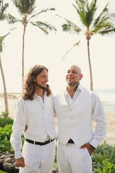 White on White Hawaii Wedding