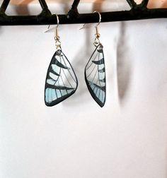 Handcrafted Butterfly earrings, stainless steel earrings, jewelry, fish hook earrings, Dangle earrings, butterfly wing earrings, by dougwalpusartstudio. Explore more products on http://dougwalpusartstudio.etsy.com