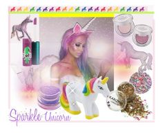 """Sparkle Unicorn'"" by dianefantasy ❤ liked on Polyvore featuring beauty, Urban Decay, Deborah Lippmann, Medusa's Makeup and MAC Cosmetics"