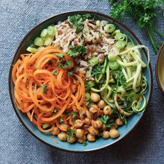 Buddha Bowl mit Kichererbsen und Reis